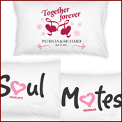 Bride and Groom personalized pillowcases