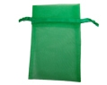Sheer Organza Pouches 4x6 Evergreen