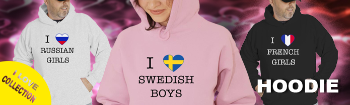 I love boys-girls Hoodies
