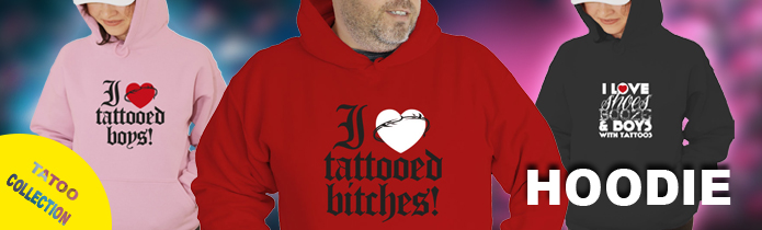Tattoo Hooded Sweatshirts
