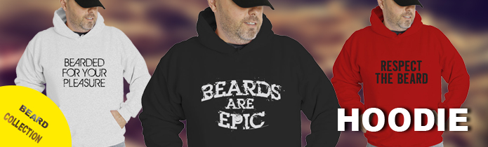 Beards Hooded Sweatshirts