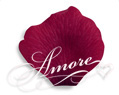 Burgundy Silk Rose Petals Wedding 100