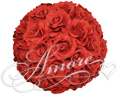 Red Silk Pomander Kissing Ball Wedding 12 inches