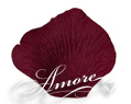 Deep Burgundy Silk Rose Petals Wedding 2000