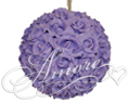 Lavender Silk Pomander Kissing Ball Wedding 8 inches