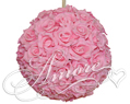 PinkSilk Pomander Kissing Ball Wedding 8 inches