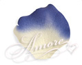 Laguna Light Ivory and Royal Blue Silk Rose Petals Wedding 600