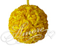Saffron Yellow  Silk Pomander Kissing Ball Wedding 6 inches
