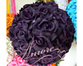 Lapis Deep Purple Silk Pomander Kissing Ball Wedding 6 inches