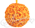 Popsicle Tangerine Silk Pomander Kissing Ball Wedding 8 inches