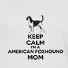 Ladies V Neck T-shirt Keep Calm I'm A American Foxhound Mom