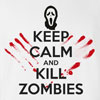 Halloween Keep Calm And Kill Zombies T-shirt Funny Scary
