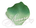 Silk Rose Petals Variegated Green Clover-2 Tones