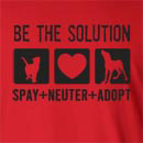 Be Solution spay, neuter, adopt Long Sleeve T-Shirt