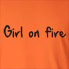 Girl On Fire Long Sleeve T-Shirt