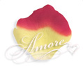 Athena Yellow and Red Silk Rose Petals Wedding 200