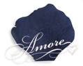 Navy Blue Silk Rose Petals Wedding 600
