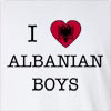 I Love Albania Boys Long Sleeve T-Shirt