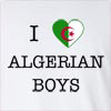 I Love Algeria Boys Long Sleeve T-Shirt