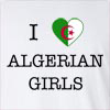I Love Algeria Girls Long Sleeve T-Shirt