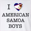 I Love American Samoa Boys Long Sleeve T-Shirt