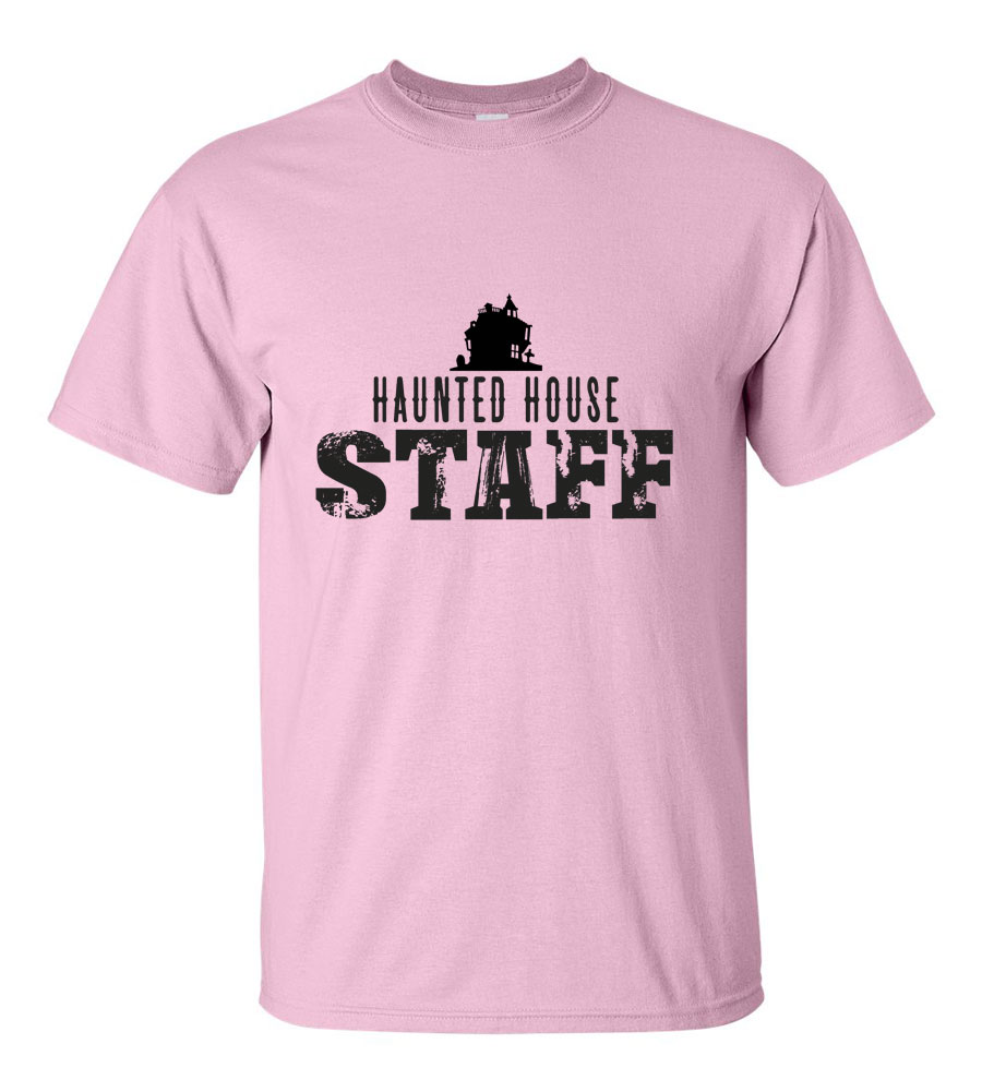 iRosePetals - Halloween Haunted House Staff T-shirt Funny Scary