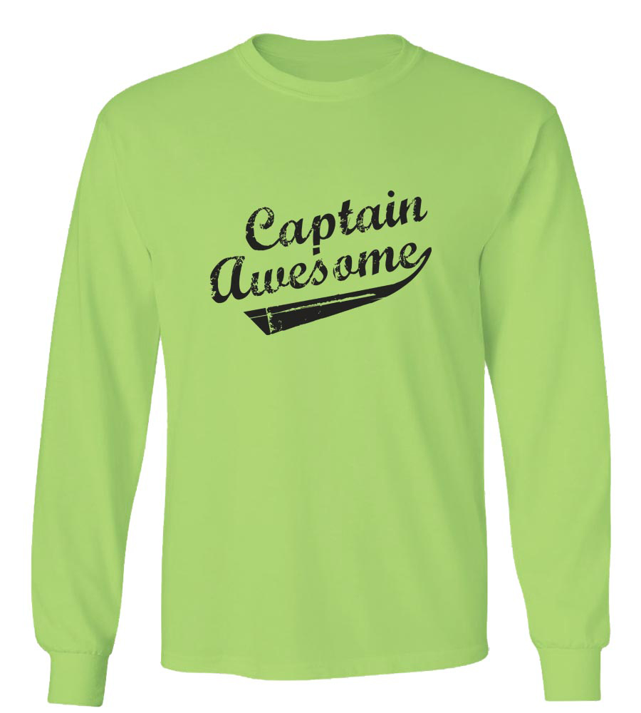 75e4af53 Captain Awesome Long Sleeve T-Shirt