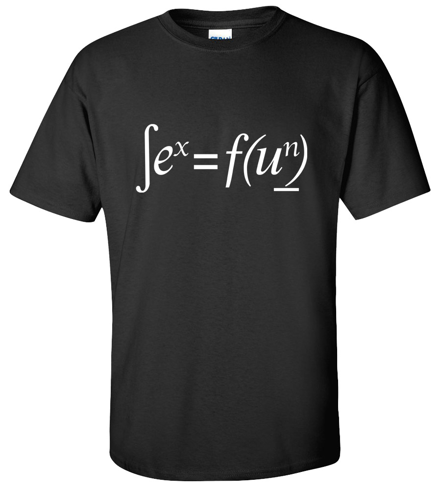 Sex = Fun Math Nerd Geek School Science Funny Rude Cool Awesome T-shirt