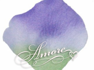 Vogue Green and Lavender Silk Wedding Rose Petals
