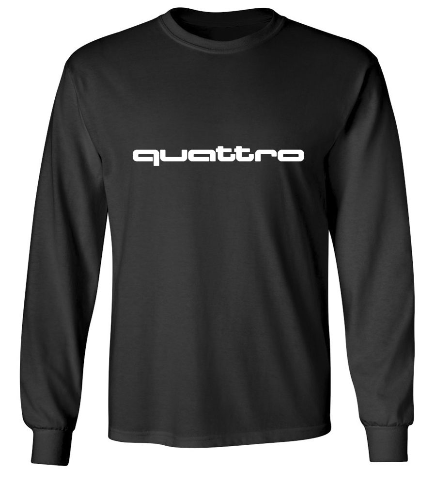 audi quattro long sleeve t shirt. Black Bedroom Furniture Sets. Home Design Ideas